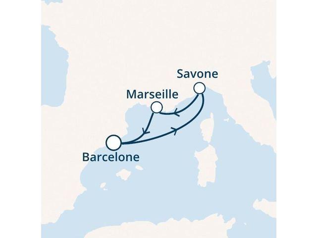 Espagne, France, Italie avec le Costa Fortuna