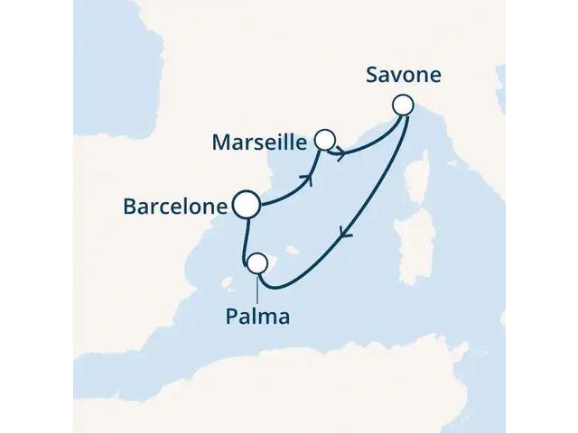 Espagne, France, Italie, Baléares à bord du Costa Diadema
