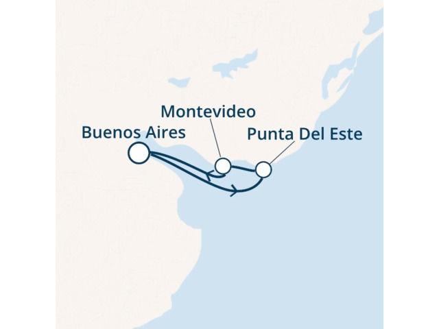 Argentine, Uruguay avec le Costa Pacifica