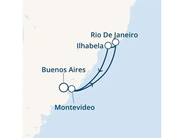 Argentine, Brésil, Uruguay avec le Costa Pacifica