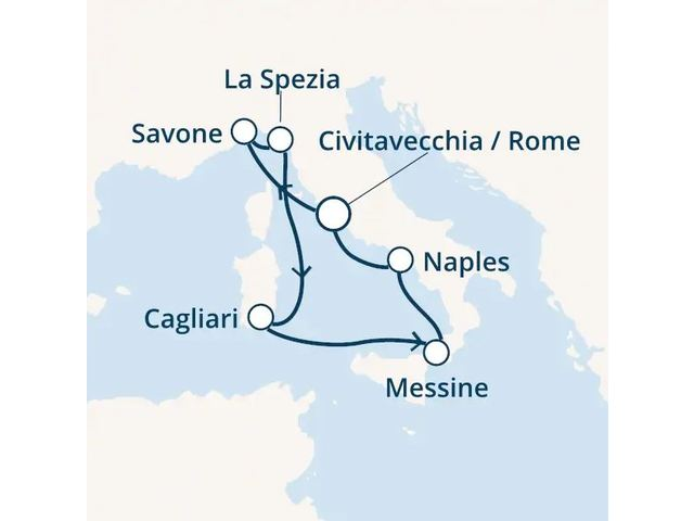 Croisière en Méditerranée à bord du Costa Smeralda - 1