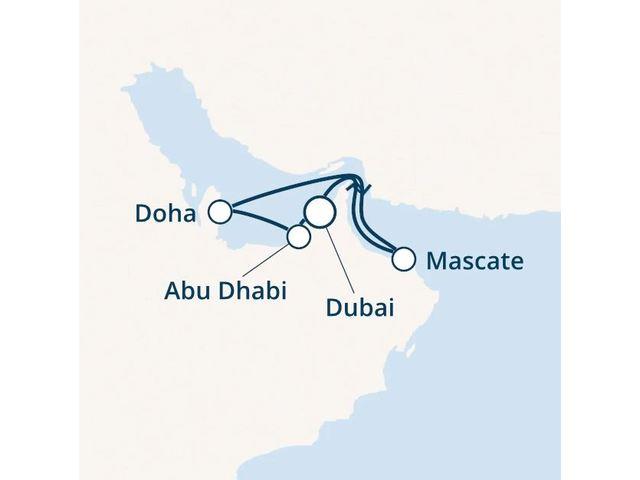 Emirats Arabes Unis, Oman avec le Costa Smeralda