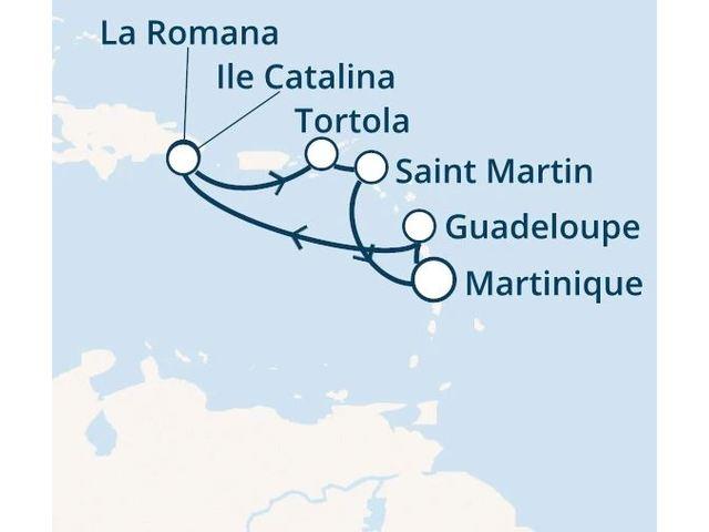 Antilles, Rép.Dominicaine, Iles Vierges avec le Costa Fortuna