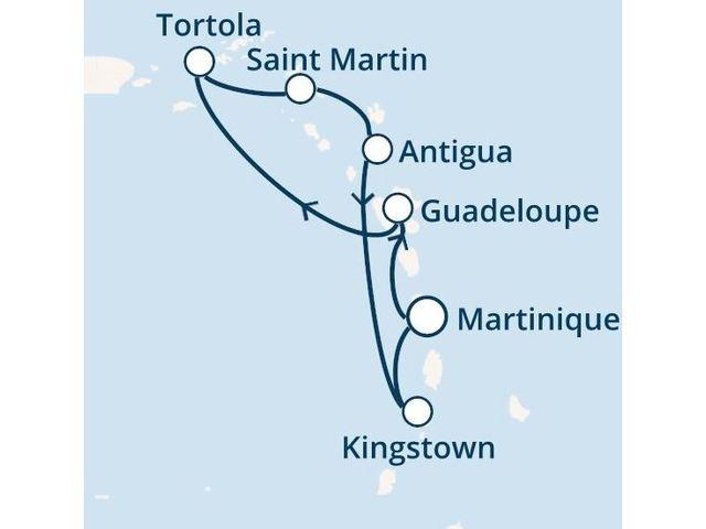 Antilles, Iles Vierges avec le Costa Fascinosa