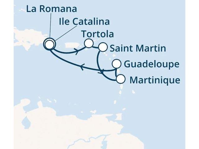 Rép.Dominicaine, Iles Vierges, Antilles avec le Costa Fortuna