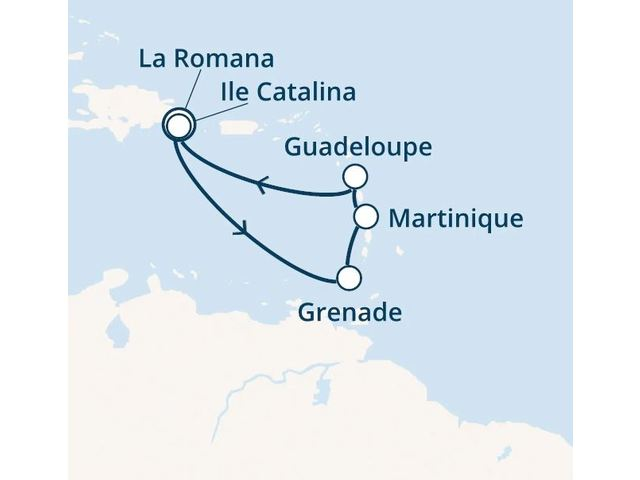 Rép.Dominicaine, Antilles avec le Costa Fortuna