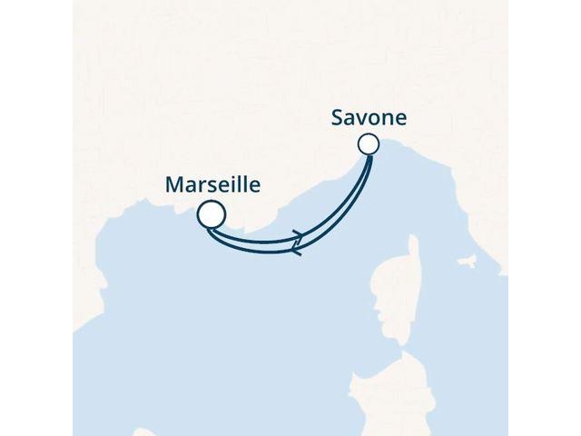 France, Italie avec le Costa Magica