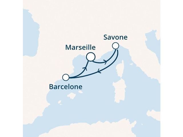 France, Italie, Espagne avec le Costa Magica
