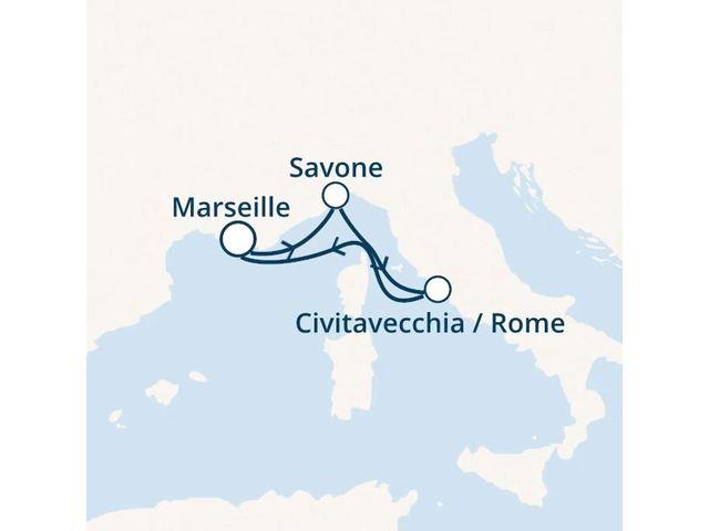 France, Italie avec le Costa Luminosa