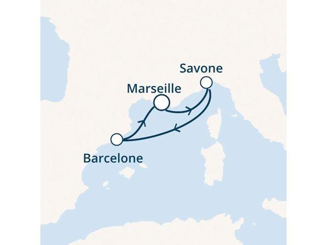 France, Italie, Espagne avec le Costa Diadema