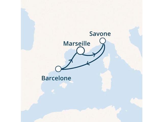 France, Italie, Espagne avec le Costa Favolosa