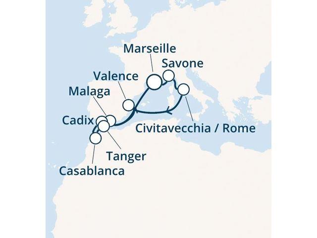 France, Italie, Espagne, Maroc avec le Costa Magica
