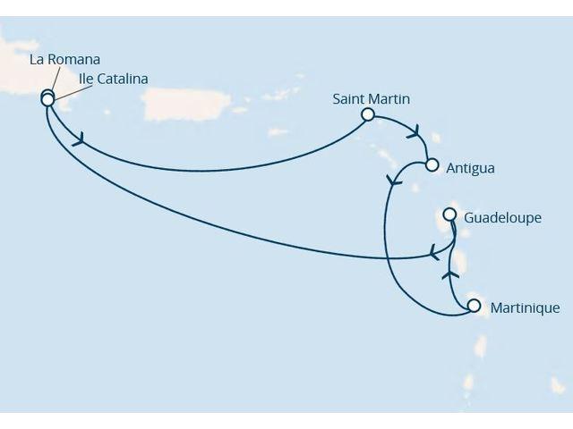 antilles, république dominicaine avec le costa favolosa