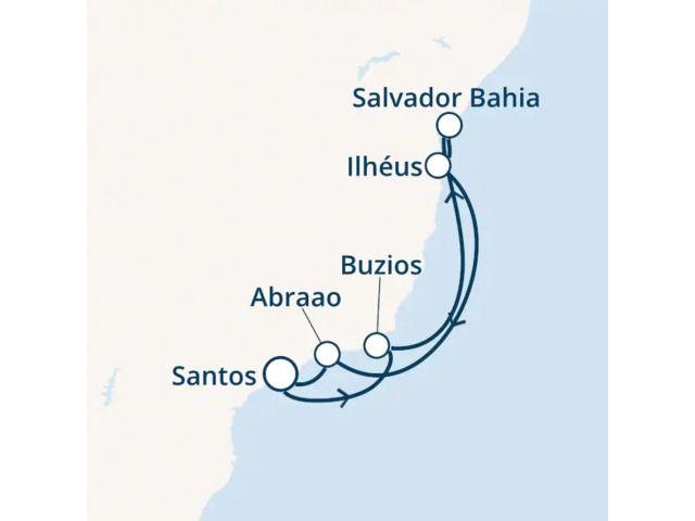 Brésil avec le Costa Fascinosa