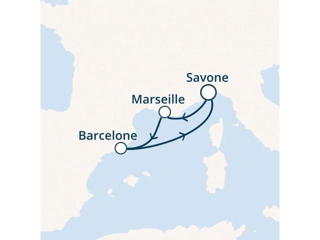 Italie, France, Espagne avec le Costa Fascinosa