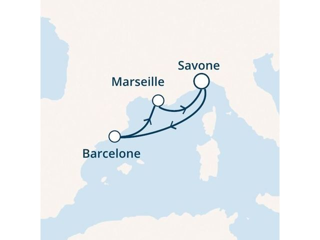 Italie, Espagne, France avec le Costa Magica