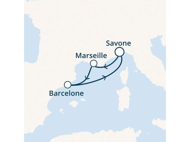Italie, France, Espagne avec le Costa Favolosa