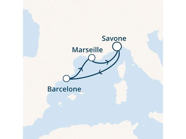 Italie, Espagne, France avec le Costa Fortuna