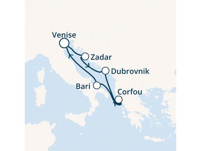 Italie, Croatie, Grèce avec le Costa Deliziosa
