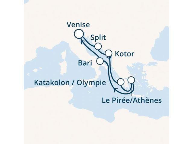 Italie, Croatie, Montenegro, Grèce avec le Costa Deliziosa