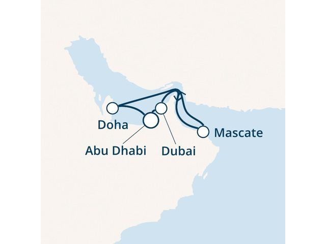 Emirats Arabes Unis, Oman, Qatar avec le Costa Diadema