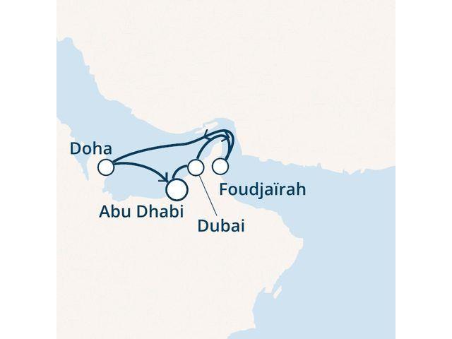 Emirats Arabes Unis, Qatar avec le Costa Diadema