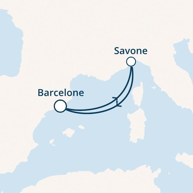 Espagne, Italie avec le Costa Magica