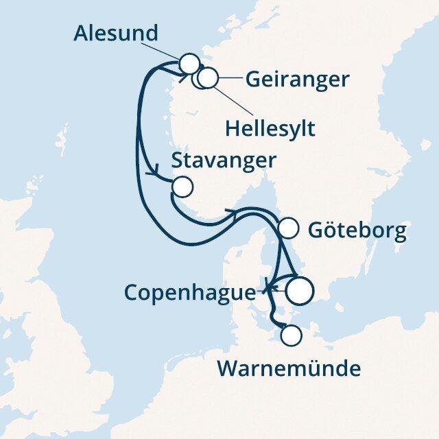 Allemagne, Danemark, Norvège, Suède avec le Costa Fascinosa