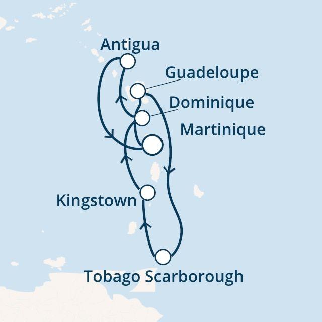 Antilles, Trinité et Tobago avec le Costa Favolosa