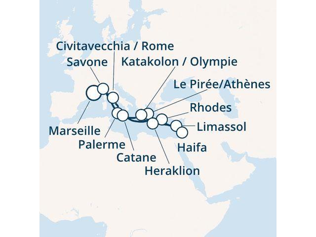 Italie, Grèce, Israël, Chypre avec le Costa Magica