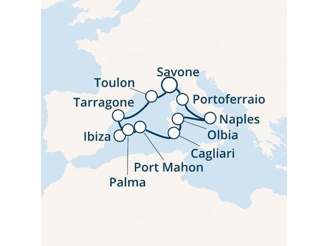 Italie, Espagne, Baléares avec le Costa Victoria