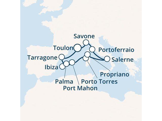 Espagne, Baléares, Italie, Corse avec le Costa neoRiviera - 1