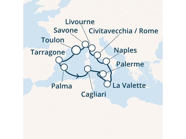 Espagne, Baléares, Italie, Malte avec le Costa Victoria