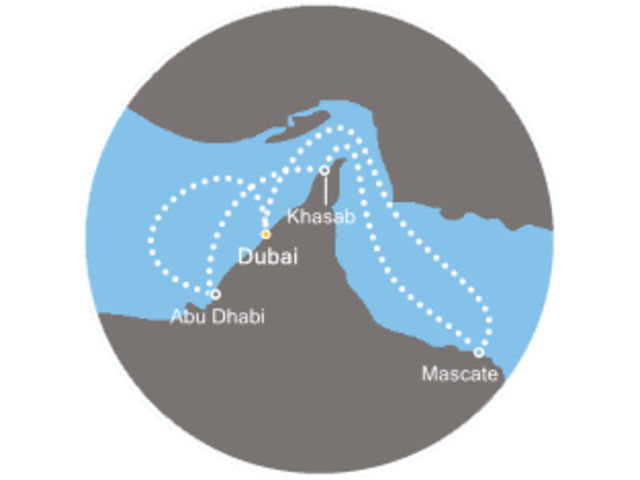 Émirats Arabes, Oman, Qatar avec le Costa Diadema