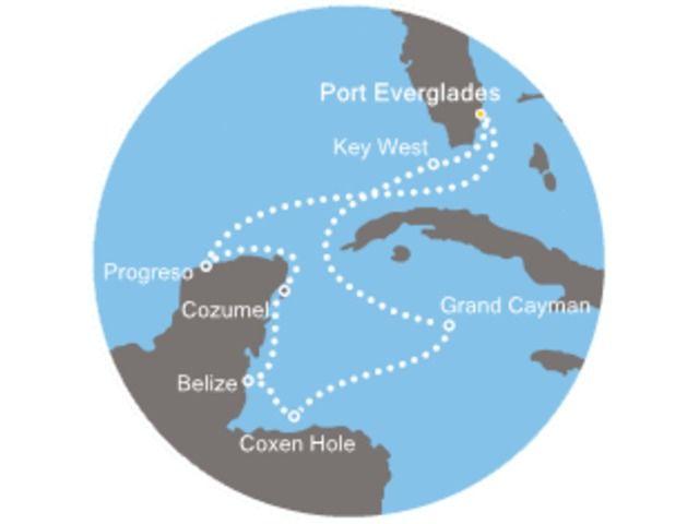 Floride (USA), Iles Caymans, Belize, Mexique avec le Costa Deliziosa