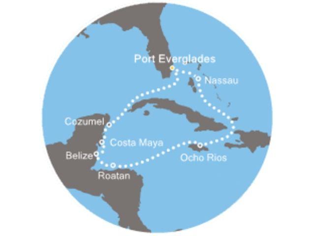 Floride (USA), Bahamas, Jamaïque, Honduras, Belize, Mexique avec le Costa Deliziosa