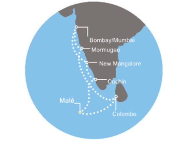 Maldives, Sri Lanka, Inde avec le Costa neoClassica