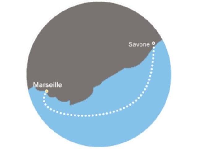France, Italie avec le Costa Favolosa