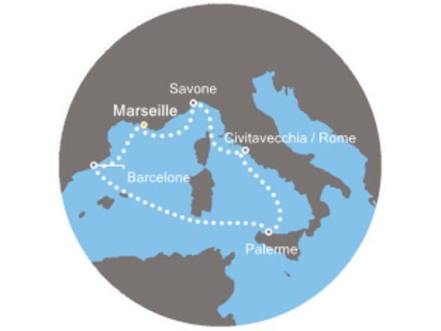 France, Espagne, Italie avec le Costa Diadema, Barcelone