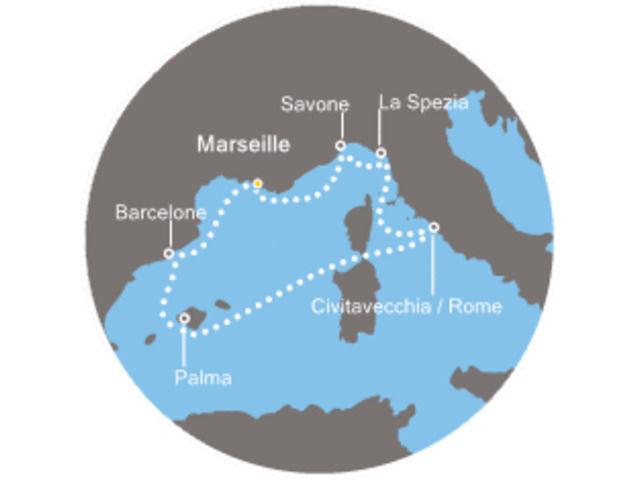 Baléares - Espagne - Barcelone - Italie - Croisière Merveilleuse Méditerranée avec le Costa Diadema