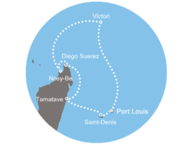 Maurice, Seychelles, Madagascar, La Réunion avec le Costa Mediterranea