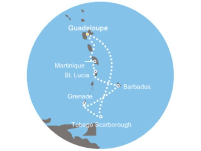 Antilles, Grenade, Barbade avec le Costa Magica