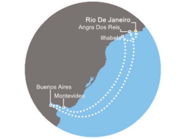 Brésil, Uruguay, Argentine avec le Costa Fascinosa