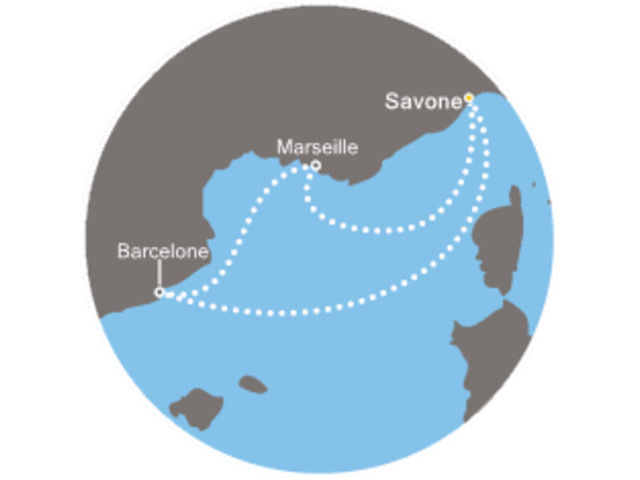 Italie, Espagne, France avec le Costa Mediterranea