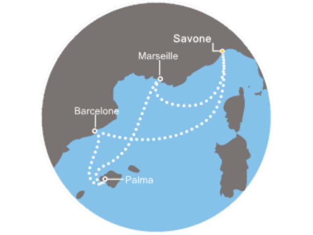 France, Baléares, Espagne avec le Costa Mediterranea