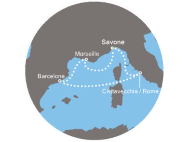Italie, Espagne, France avec le Costa Favolosa