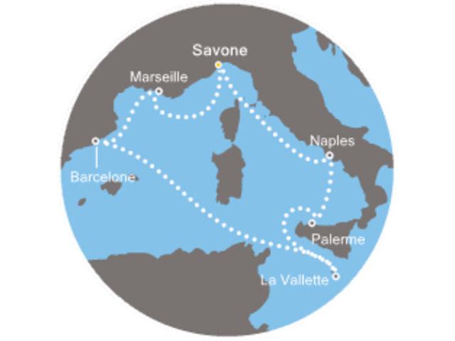 Italie, Malte, Espagne avec le Costa Fascinosa