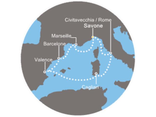 Espagne, France, Italie avec le Costa Pacifica