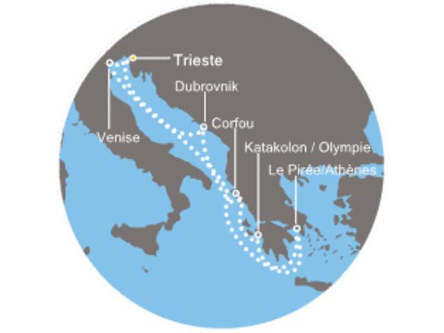 Italia, Grecia, Croacia avec le Costa Luminosa