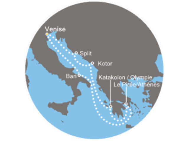 Italie, Grèce avec le Costa Luminosa